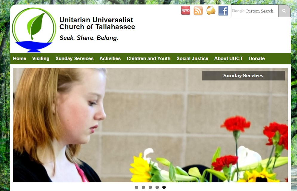 Unitarian Universalist Church of Tallahassee - Website Screenshot